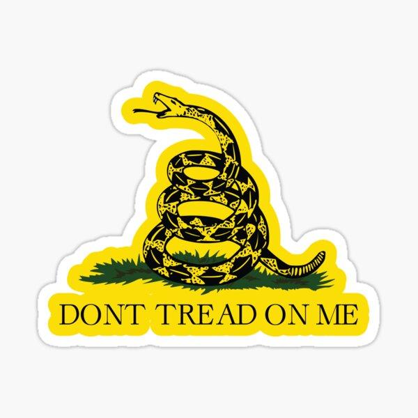 Gadsden flag Don't tread on me Libertarian 2nd amendment 2A yellow flag HD HIGH QUALITY ONLINE STORE Sticker