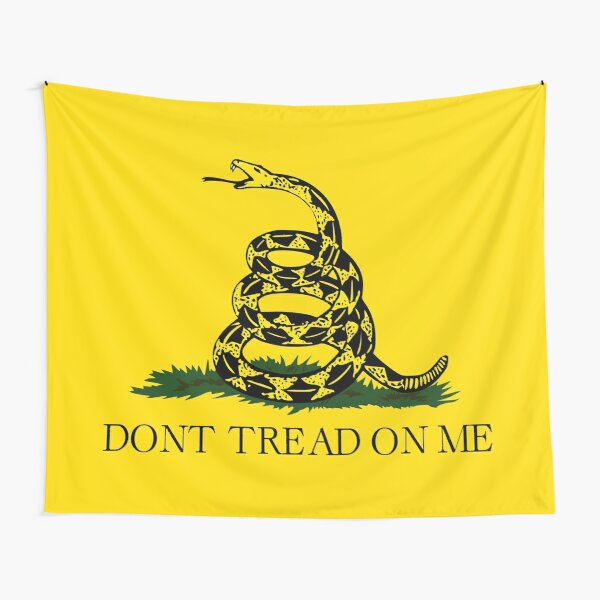 Gadsden flag Don't tread on me Libertarian 2nd amendment 2A yellow flag HD HIGH QUALITY ONLINE STORE Tapestry