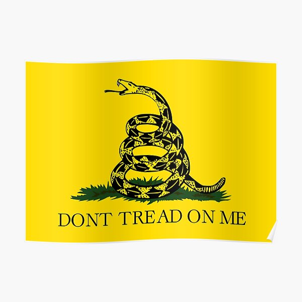 Gadsden flag Don't tread on me Libertarian 2nd amendment 2A yellow flag HD HIGH QUALITY ONLINE STORE Poster