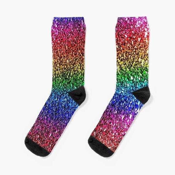 Rainbow Sparkle Socks