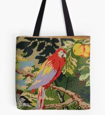 Parrot On A Branch Tote Bag