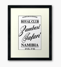 Zambesi Safari Framed Print