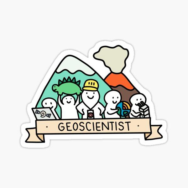 Geoscientists, assemble! Sticker