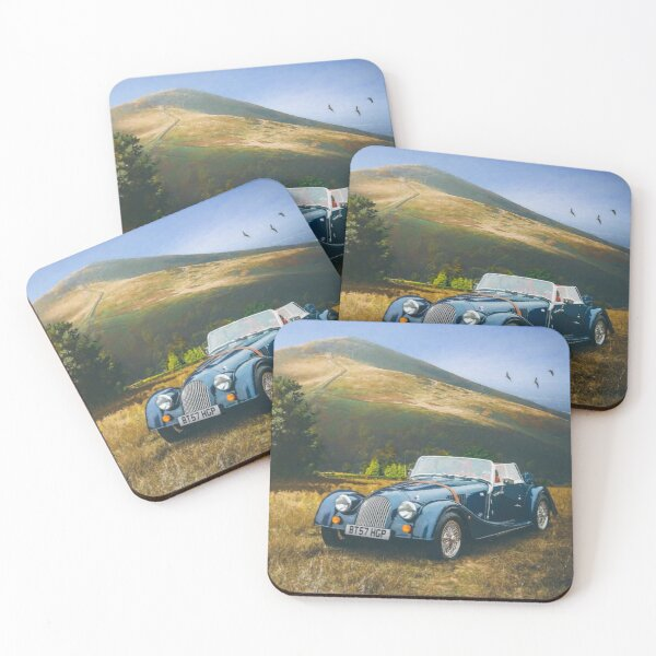 Morgan car digital art Coasters (Set of 4)