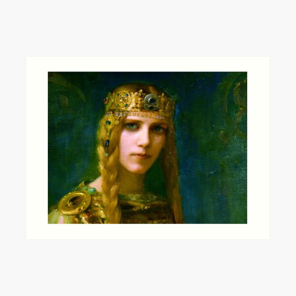 Isolde Irish Princess, 1911, Gaston Bussiere Art Print