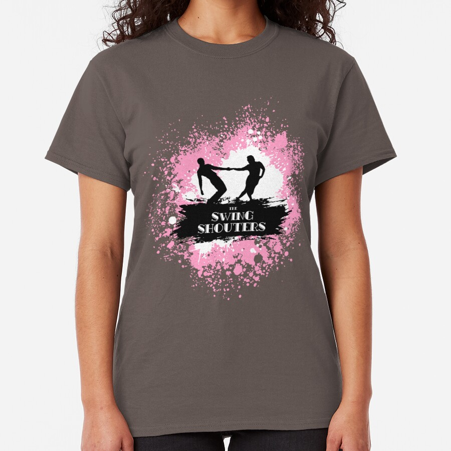 Jitterbugs Peinture Rose & Blanc T-shirt classique