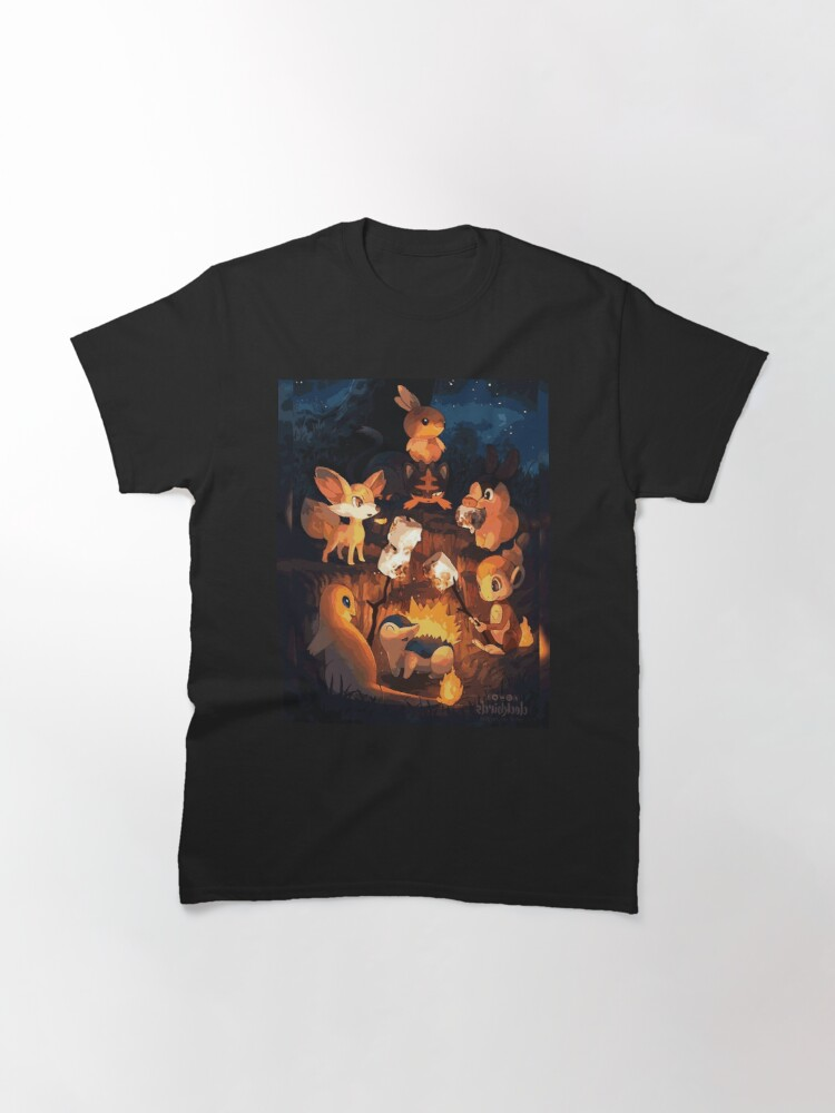 Alternate view of Fire Starters Chilling in a Campfire - Pocket Monsters Classic T-Shirt