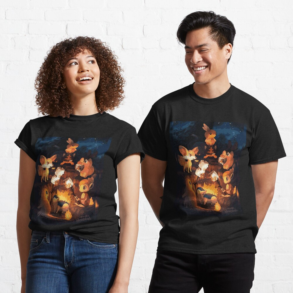 Fire Starters Chilling in a Campfire - Pocket Monsters Classic T-Shirt