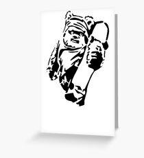 Jawa Skateboarder Schablone Grußkarte