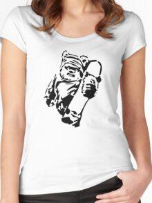 Jawa Skateboarder Stencil Women's Fitted Scoop T-Shirt