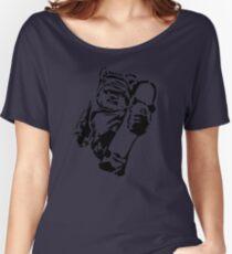 Jawa Skateboarder Stencil Women's Relaxed Fit T-Shirt