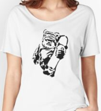 Jawa Skateboarder Stencil Women's Relaxed Fit T-Shirt