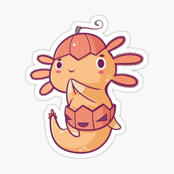 Halloween Axolotl - Pumpkin! Sticker