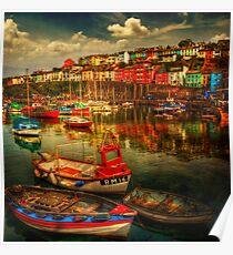 Brixham Boats Poster
