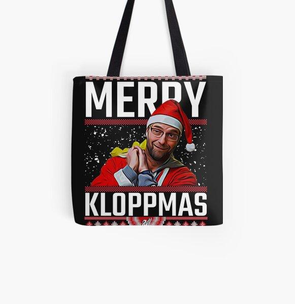 Merry Kloppmas Jurgen Klopp LFC Christmas Sweatshirt Design All Over Print Tote Bag