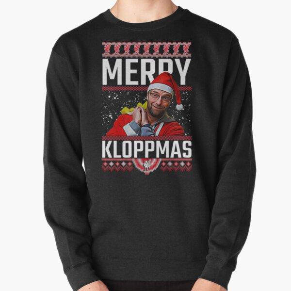 Merry Kloppmas Jurgen Klopp LFC Christmas Sweatshirt Design Pullover Sweatshirt