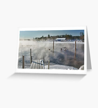 Cold Winter Morning on Brandy Pond Greeting Card