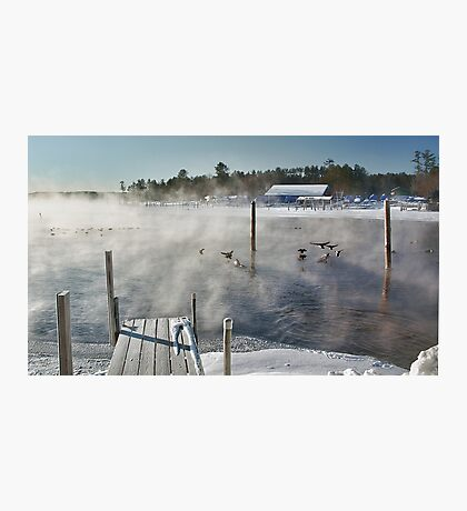 Cold Winter Morning on Brandy Pond Photographic Print