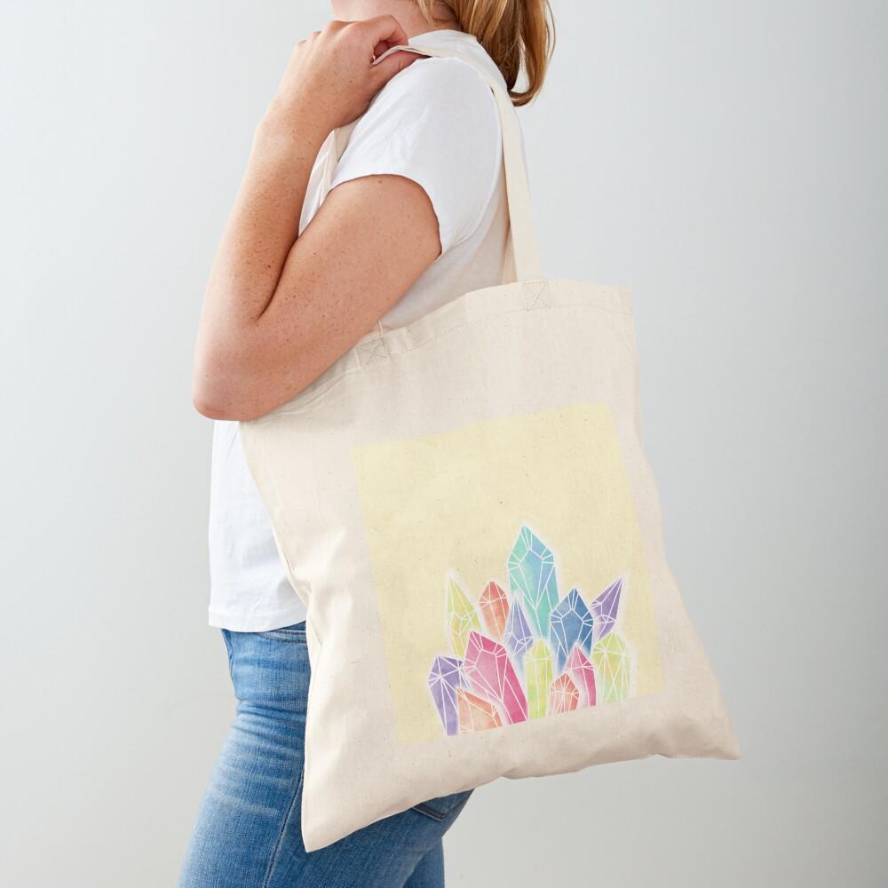 Crystals Yellow Tote Bag