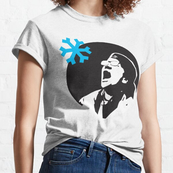 Wichita State University Ugly Holiday Mens Performance T-Shirt Snowflake