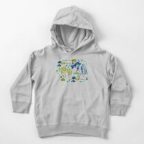Cute Watercolor Chinoiserie Garden Toddler Pullover Hoodie
