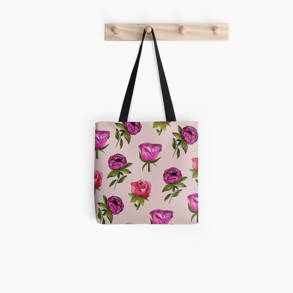 Pink and Purple florals Tote Bag