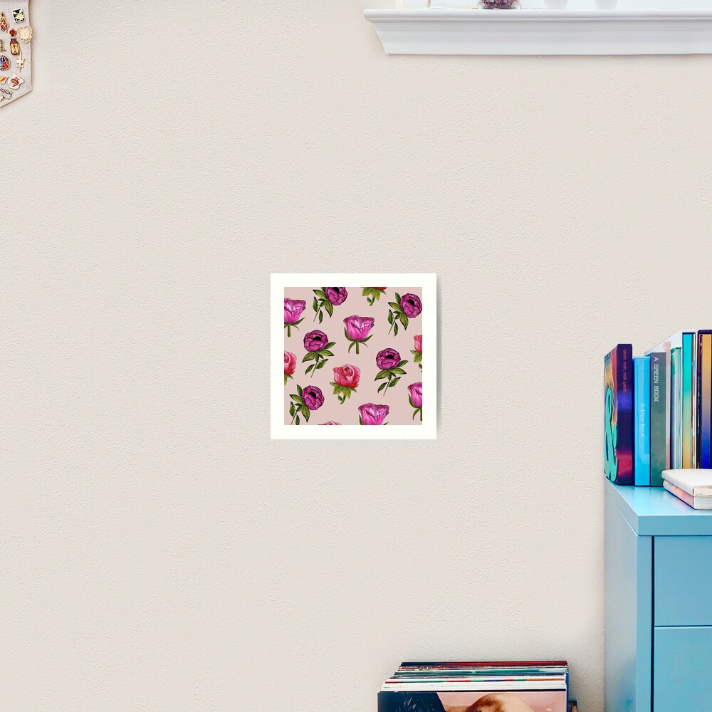Pink and Purple florals Art Print