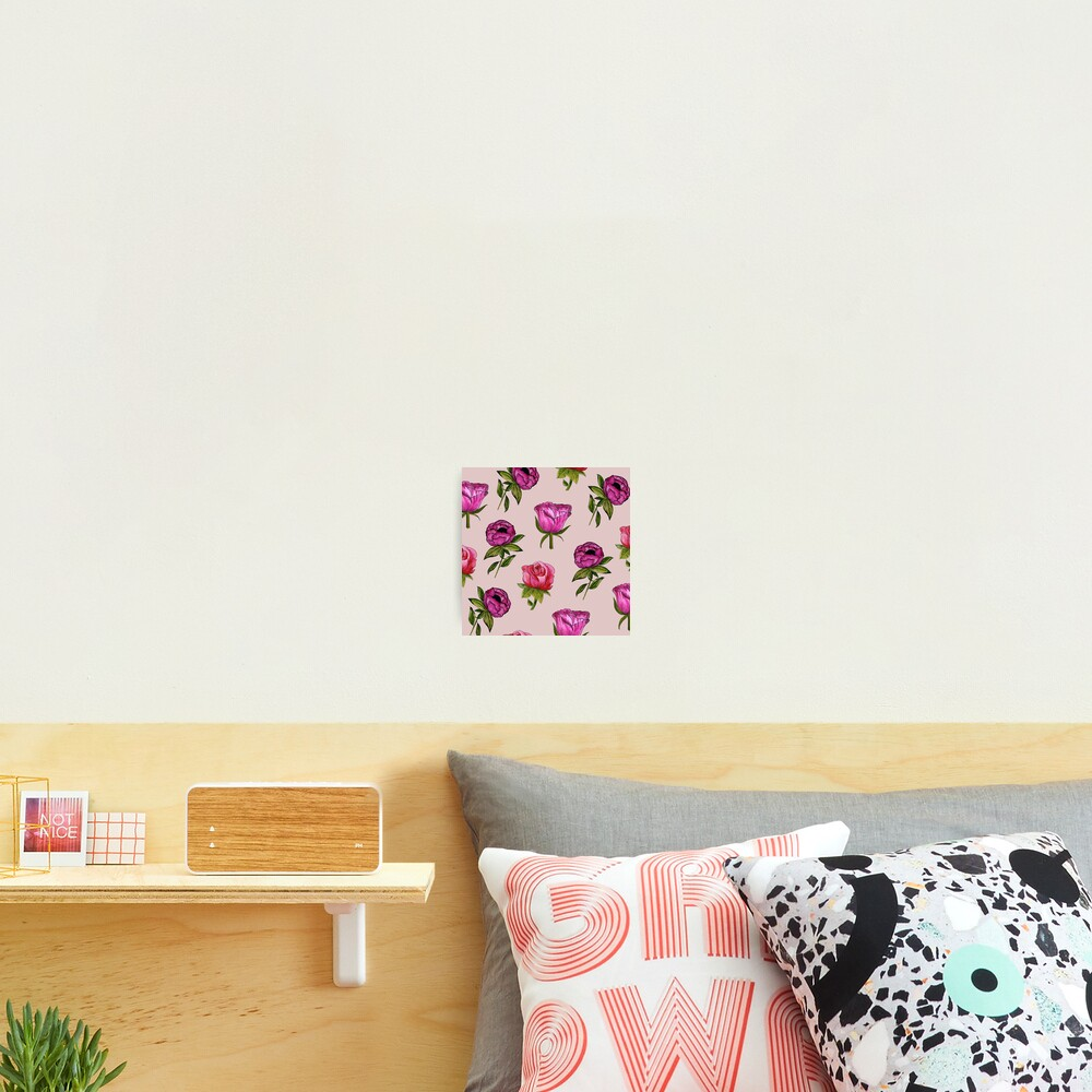Pink and Purple florals Photographic Print