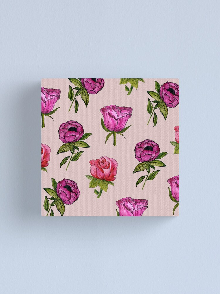 Alternate view of Pink and Purple florals Canvas Print