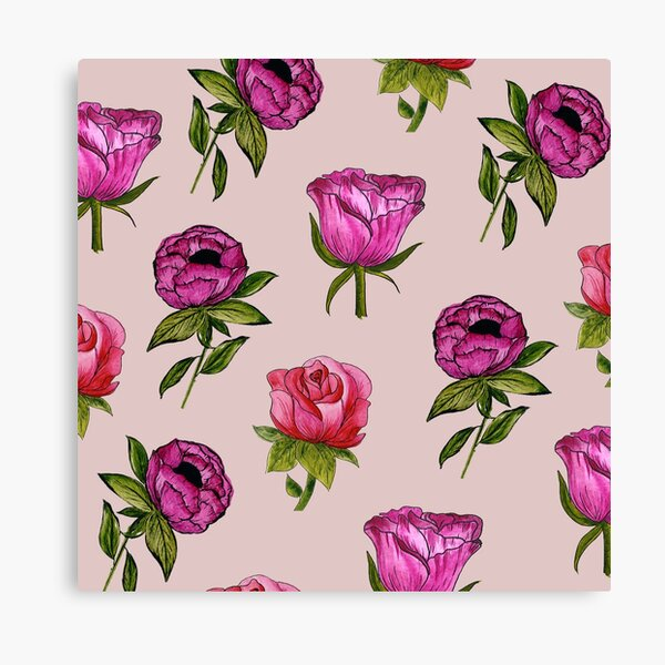 Pink and Purple florals Canvas Print