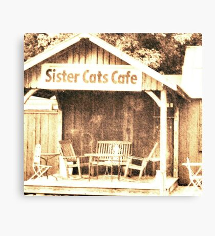 """Sister Cats Cafe""... prints and products Canvas Print"