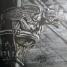 Drain pipe Dragon at Ruford Park. by Robert David Gellion