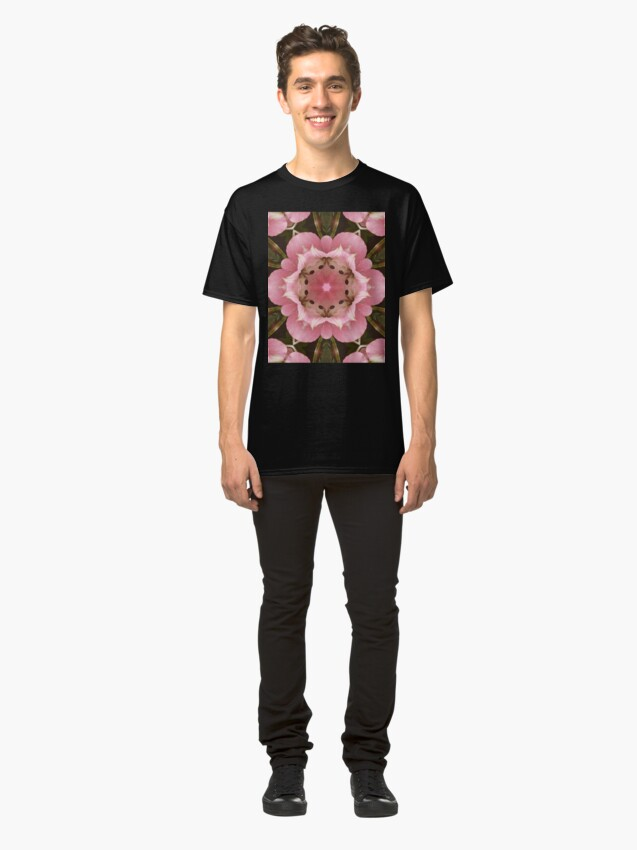 Alternate view of Pink Floral  Classic T-Shirt