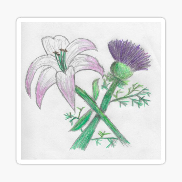 Lily and thistle Sticker