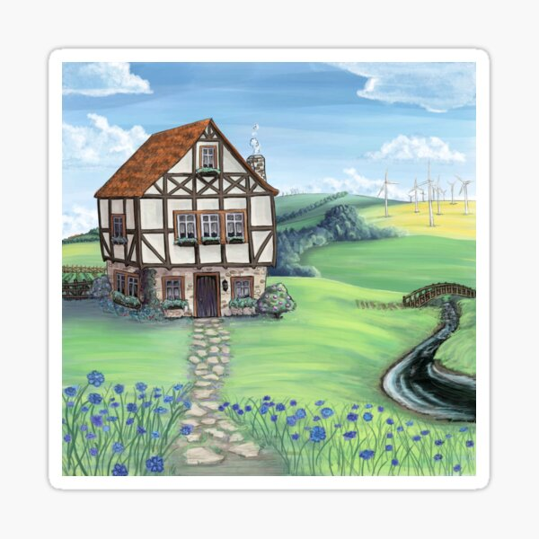 Country Cottage Sticker