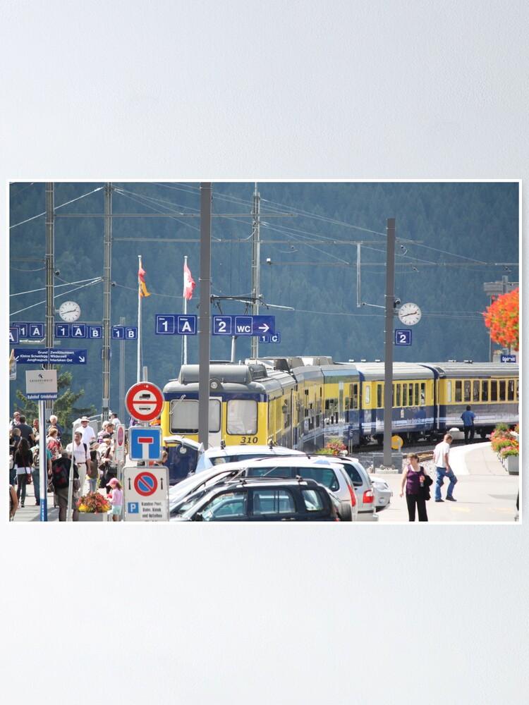 Alternate view of Grindelwald Station Poster