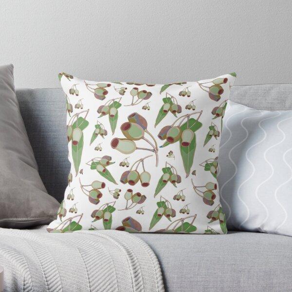Australian Gumnut Pattern Throw Pillow