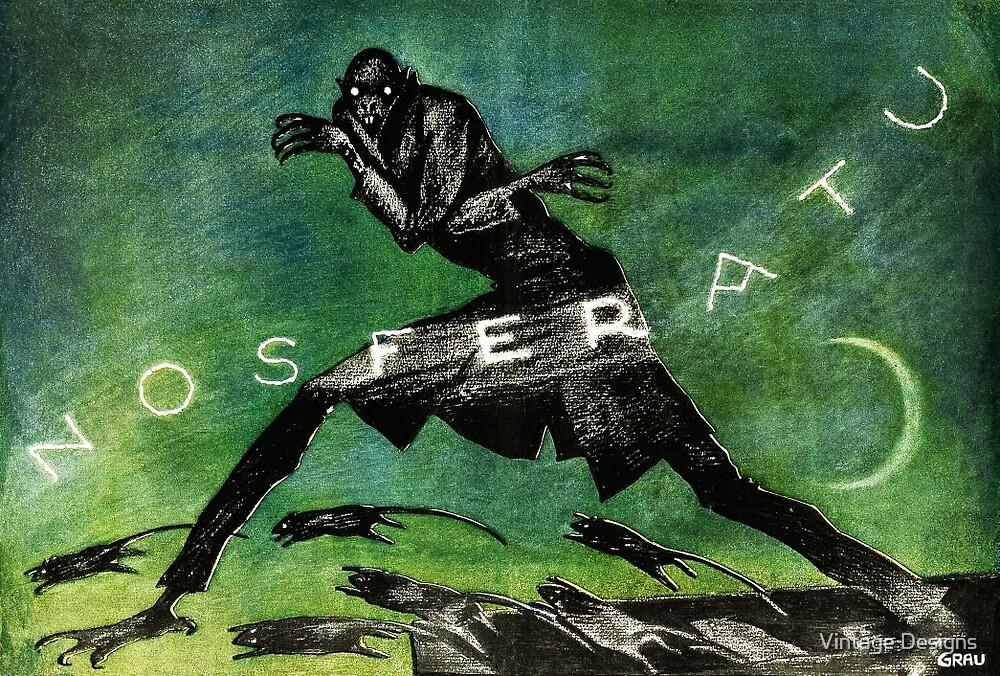 Nosferatu A Symphony of Horrors original poster Restored by Vintage Designs