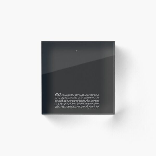 Pale Blue Dot Acrylic Block