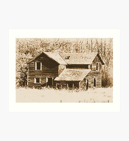 Memories Of The Old Homestead Art Print