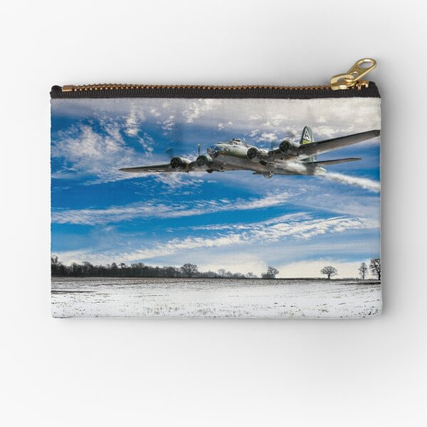 B-17 crash landing Zipper Pouch