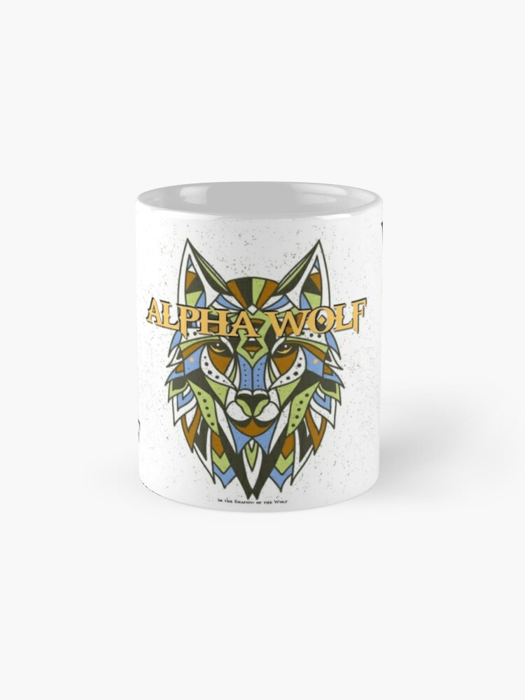 Alternate view of Tribal Alpha Wolf Mug
