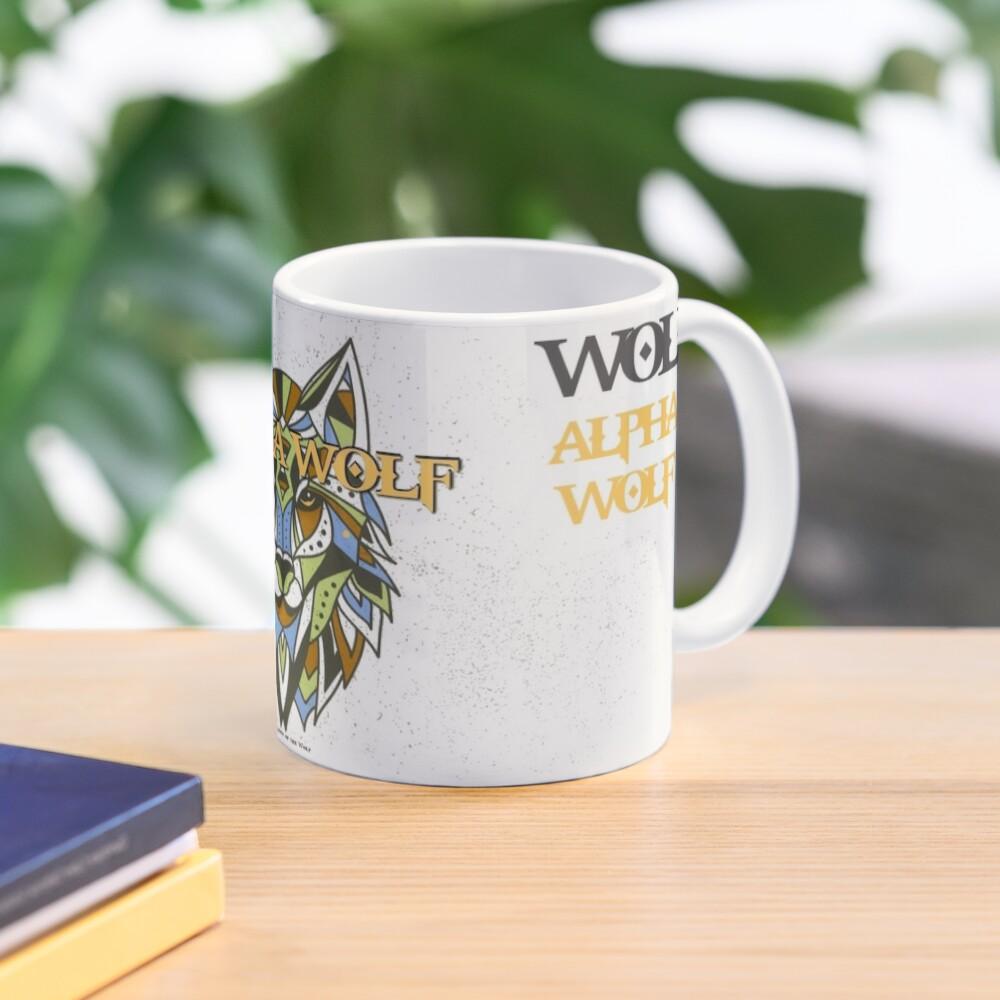Tribal Alpha Wolf Mug