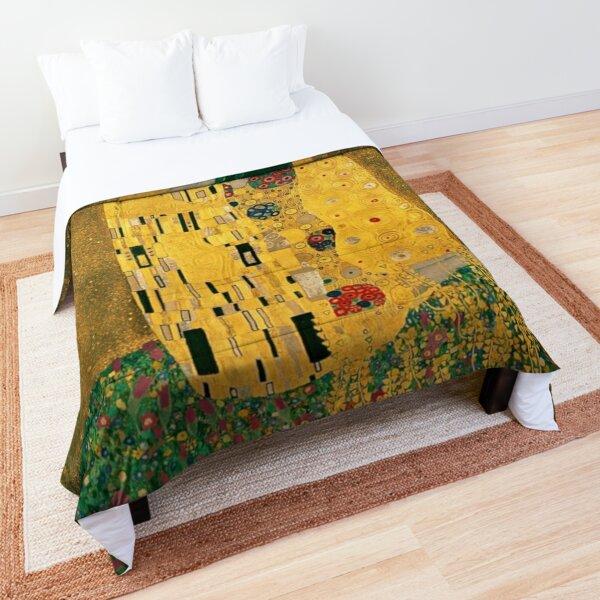 Le baiser Gustav Klimt Couvre-lit