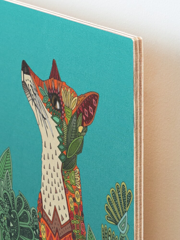 Alternate view of floral fox Mounted Print