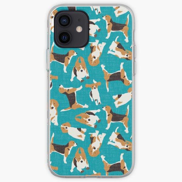 beagle scatter blue iPhone Soft Case