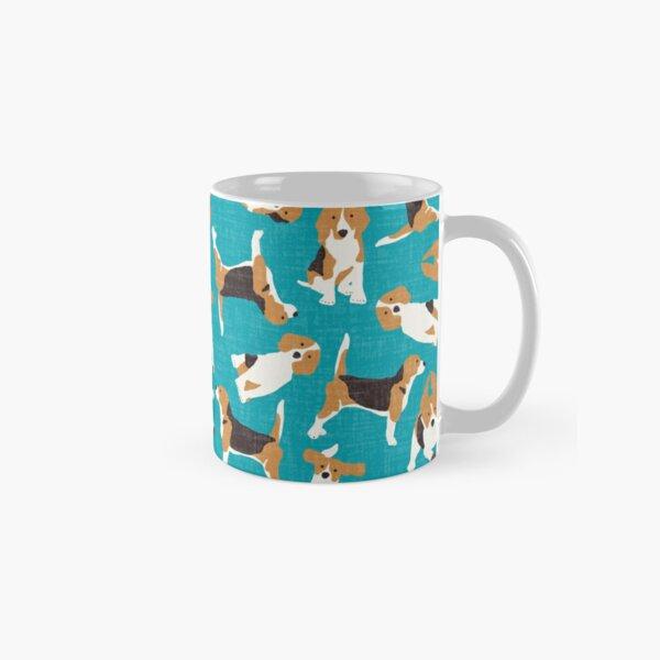 beagle scatter blue Classic Mug