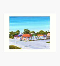 Planet Follywood, Folly Beach, SC Art Print
