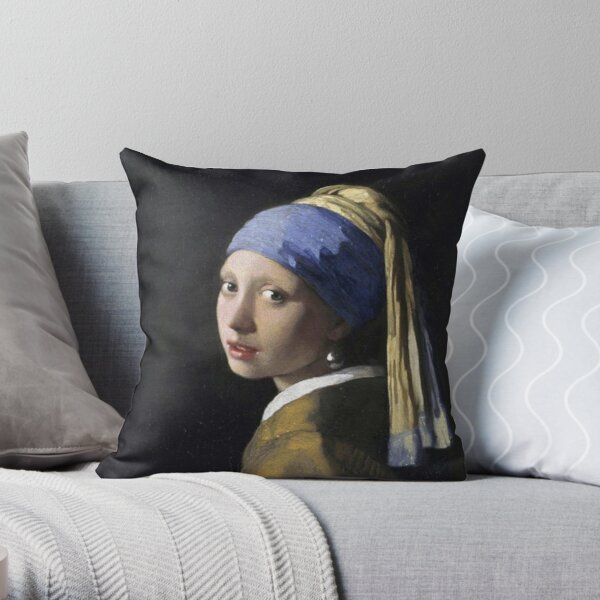 The Girl With A Pearl Earring Johannes Vermeer Throw Pillow