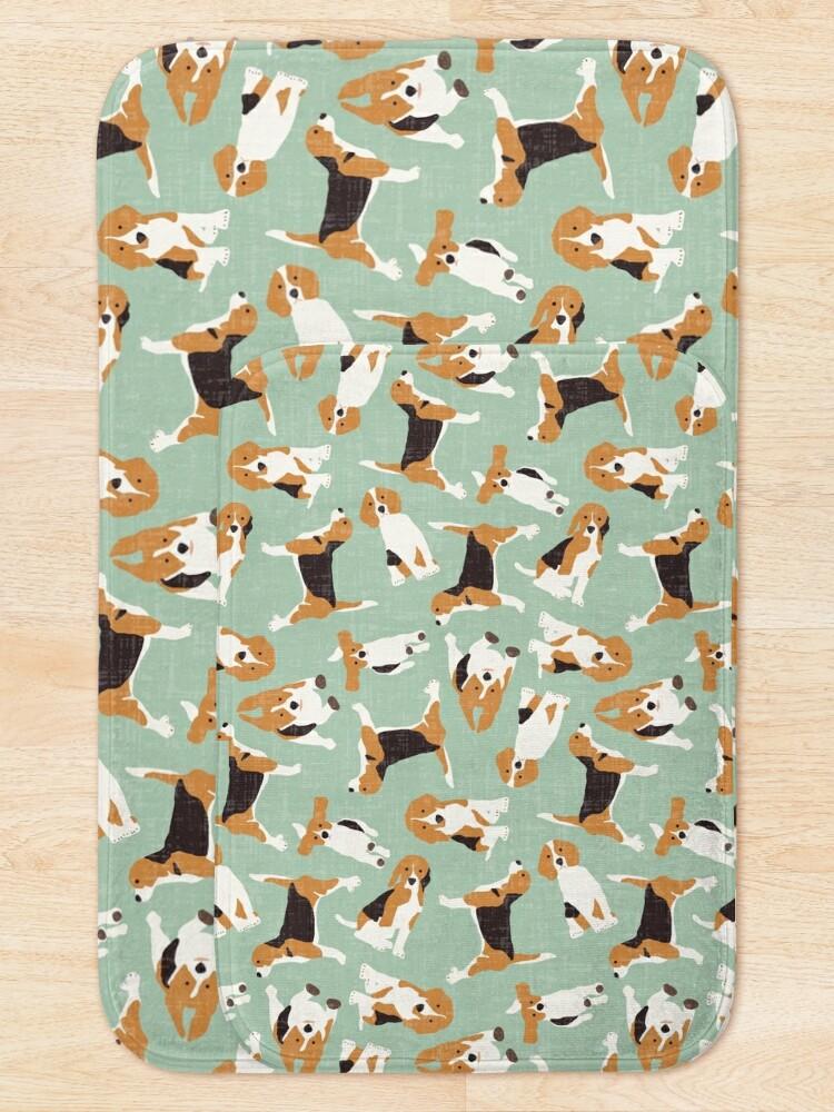 Alternate view of beagle scatter mint Bath Mat